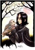 Snape with Hedwig
