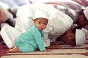 cute baby praying