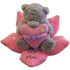 Mum teddy in flower