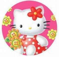 Hello kitty in pink circl