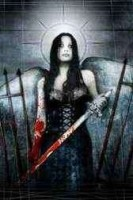 Angel with blood sword