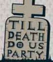 Rip party tombstone