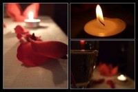 Candle light dinner