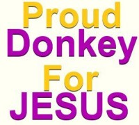 Proud donkey for Jesus