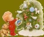 Child at tree